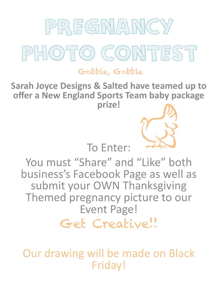 Thanksgiving Themed Pregnancy Photo Contest